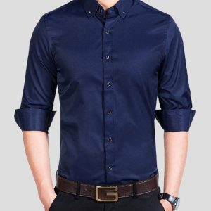 Men Shirt Smooth Color