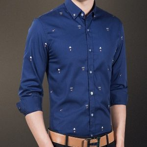 Man Shirts Glasses Style Color