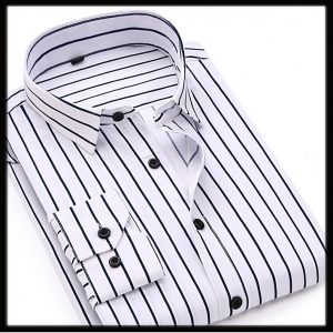 Man Shirts black stripe