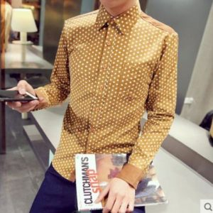 Men Long shirts lizard egg style for party