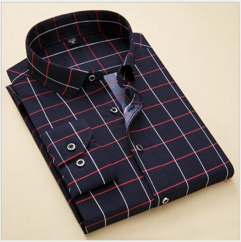 Men shirt cotton square style for party work wedding