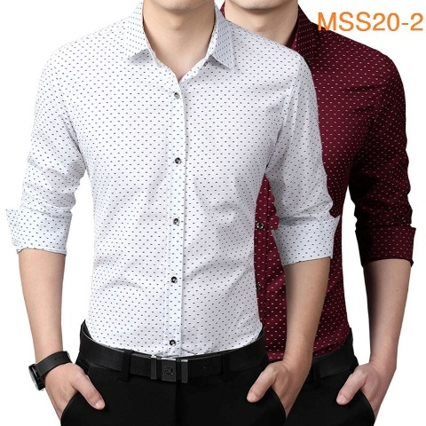 Men shirt letter W style for party work wedding