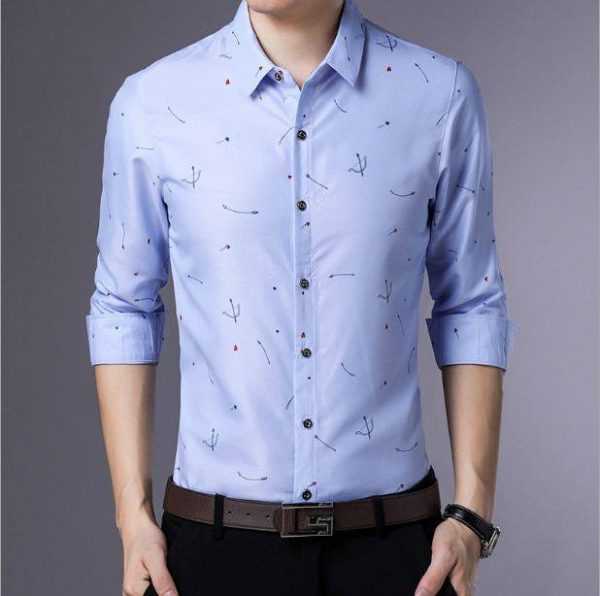 Men shirt style for party pink